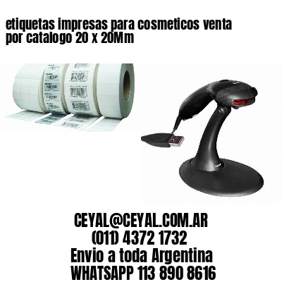 etiquetas impresas para cosmeticos venta por catalogo 20 x 20Mm