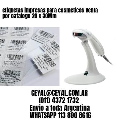 etiquetas impresas para cosmeticos venta por catalogo 20 x 30Mm