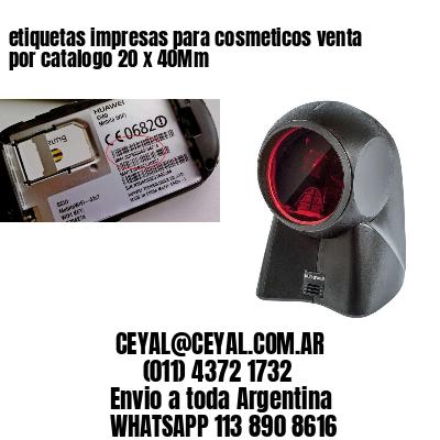etiquetas impresas para cosmeticos venta por catalogo 20 x 40Mm