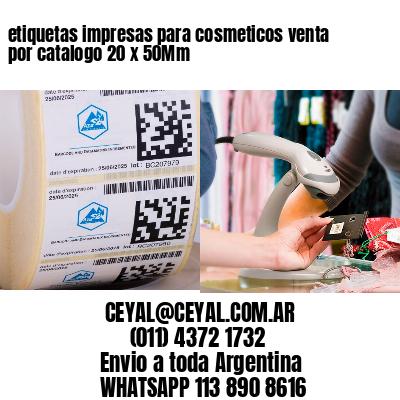 etiquetas impresas para cosmeticos venta por catalogo 20 x 50Mm