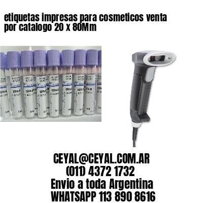 etiquetas impresas para cosmeticos venta por catalogo 20 x 80Mm