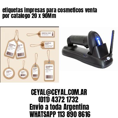 etiquetas impresas para cosmeticos venta por catalogo 20 x 90Mm