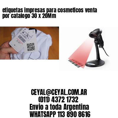 etiquetas impresas para cosmeticos venta por catalogo 30 x 20Mm