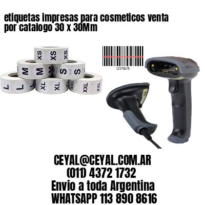 etiquetas impresas para cosmeticos venta por catalogo 30 x 30Mm