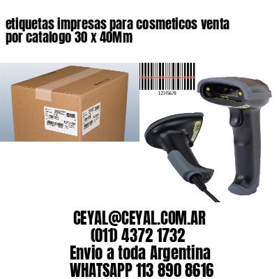 etiquetas impresas para cosmeticos venta por catalogo 30 x 40Mm