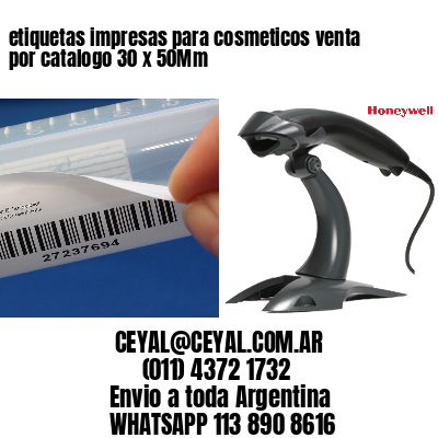 etiquetas impresas para cosmeticos venta por catalogo 30 x 50Mm