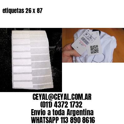 etiquetas 26 x 87