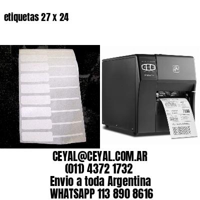 etiquetas 27 x 24