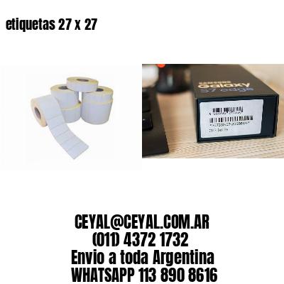 etiquetas 27 x 27