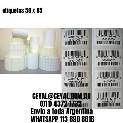 etiquetas 58 x 85