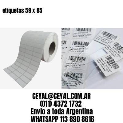 etiquetas 59 x 85
