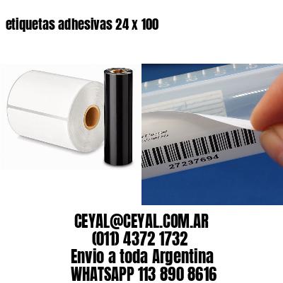 etiquetas adhesivas 24 x 100