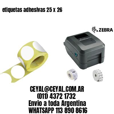 etiquetas adhesivas 25 x 26