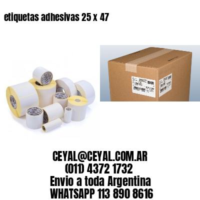 etiquetas adhesivas 25 x 47