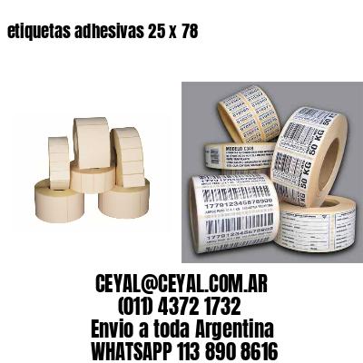 etiquetas adhesivas 25 x 78