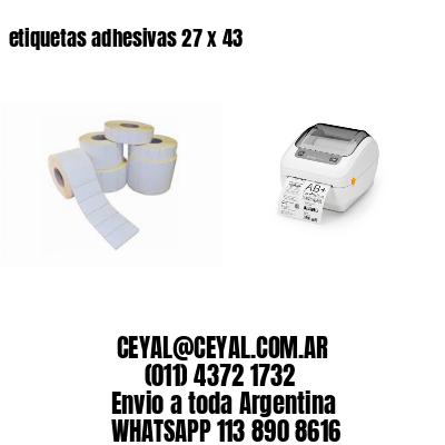 etiquetas adhesivas 27 x 43