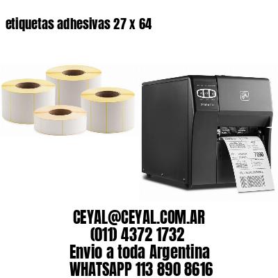 etiquetas adhesivas 27 x 64