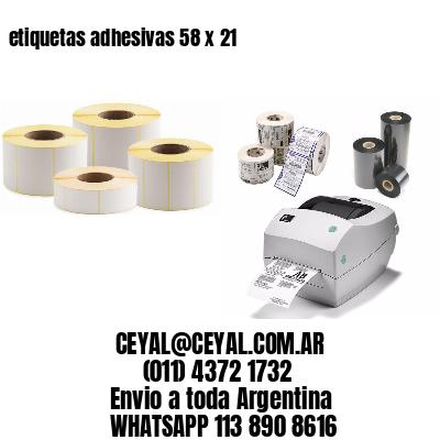 etiquetas adhesivas 58 x 21