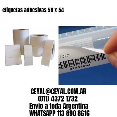 etiquetas adhesivas 58 x 54