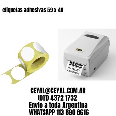 etiquetas adhesivas 59 x 46