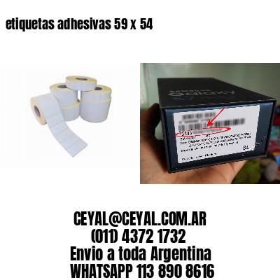 etiquetas adhesivas 59 x 54