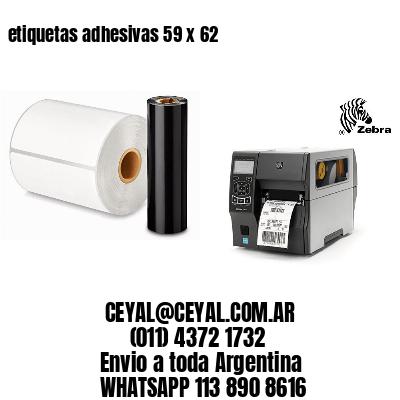 etiquetas adhesivas 59 x 62