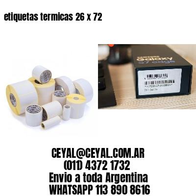 etiquetas termicas 26 x 72