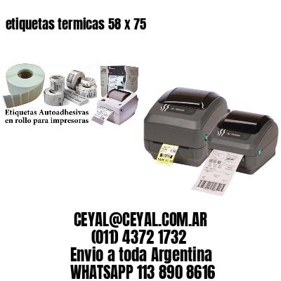 etiquetas termicas 58 x 75