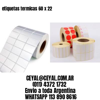 etiquetas termicas 60 x 22