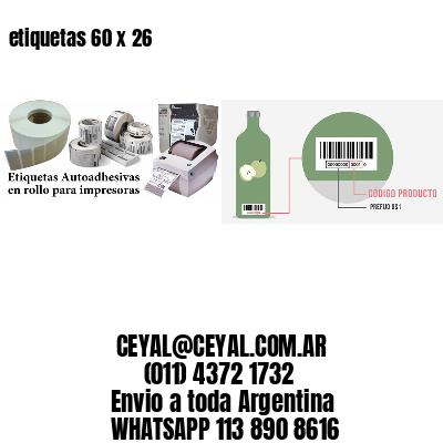 etiquetas 60 x 26