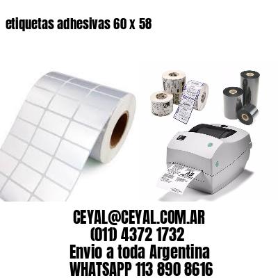 etiquetas adhesivas 60 x 58