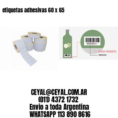 etiquetas adhesivas 60 x 65