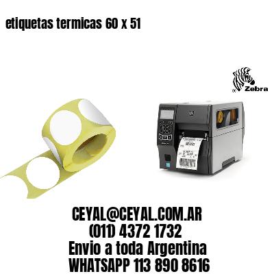 etiquetas termicas 60 x 51