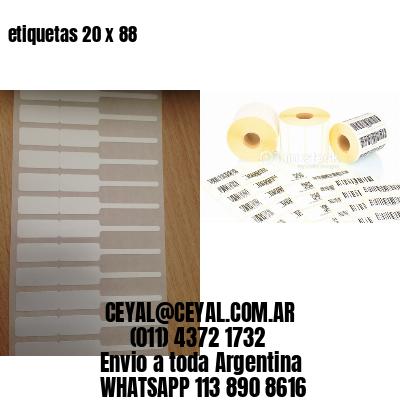 etiquetas 20 x 88