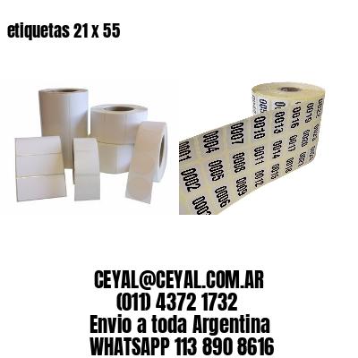 etiquetas 21 x 55