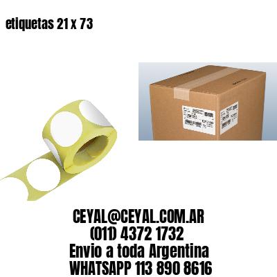 etiquetas 21 x 73