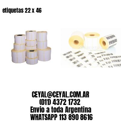 etiquetas 22 x 46