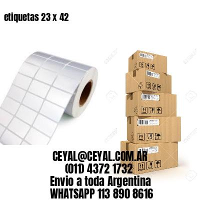 etiquetas 23 x 42