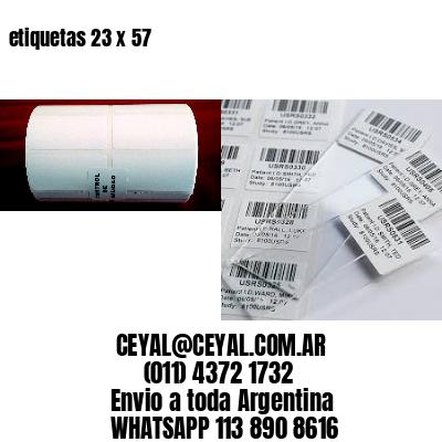 etiquetas 23 x 57
