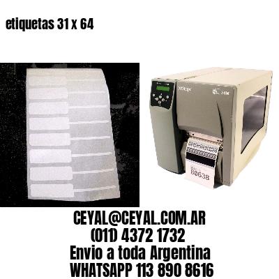 etiquetas 31 x 64
