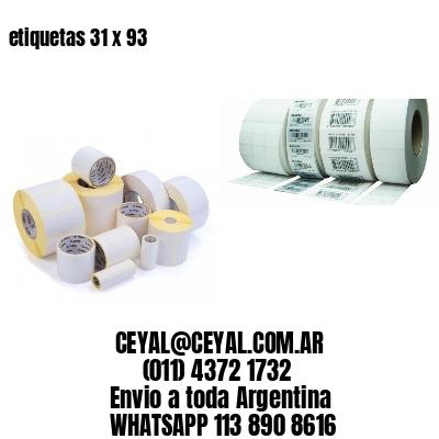 etiquetas 31 x 93