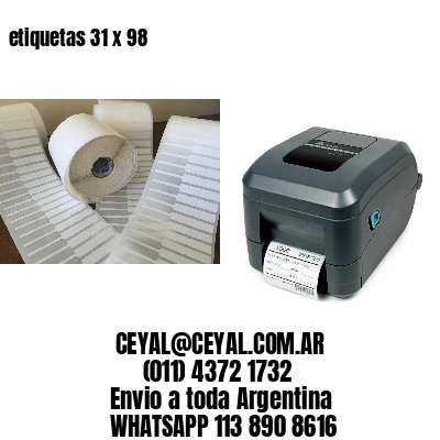 etiquetas 31 x 98