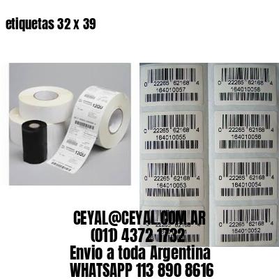 etiquetas 32 x 39