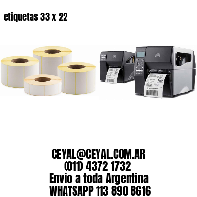 etiquetas 33 x 22
