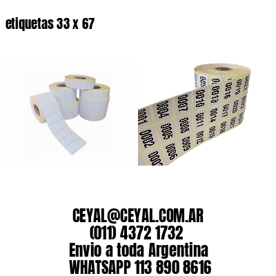 etiquetas 33 x 67