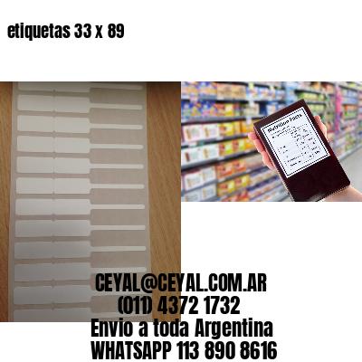 etiquetas 33 x 89