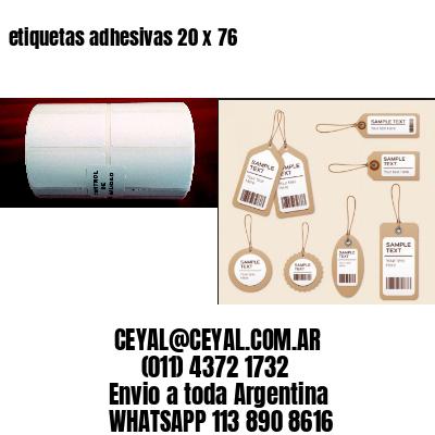 etiquetas adhesivas 20 x 76