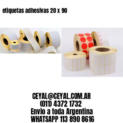 etiquetas adhesivas 20 x 90