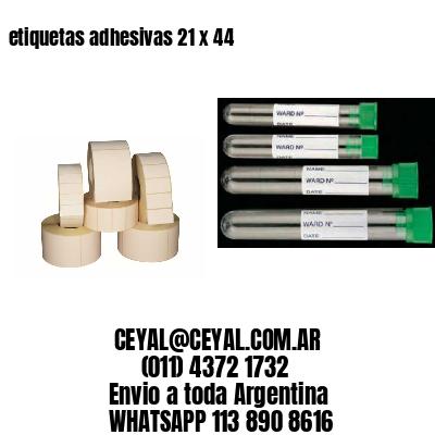 etiquetas adhesivas 21 x 44