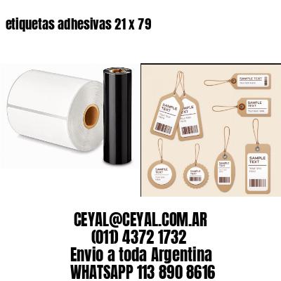 etiquetas adhesivas 21 x 79